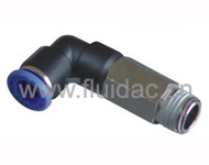 PLASTIC FITTING ELBOW MALE EXTENSION