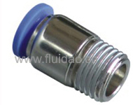 PLASTIC FITTING ROUND STRAIGHT MALE